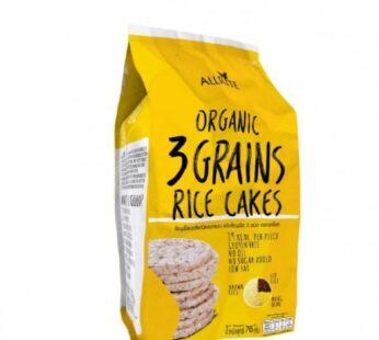 Rice Cakes, 3 Grain, Organic, GF, Allrite, 76g