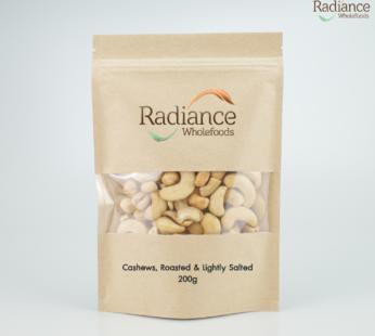 Cashews Whole, Roasted & Lightly Salted 200g