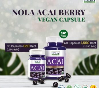 Supplement : Nola Superfoods Acai Berry 60 VEGAN Capsules : อาซาอิ เบอร์รี่
