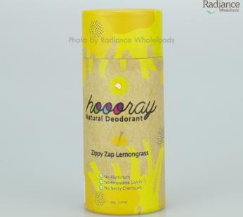 Deodorant : Zippy Zap Lemongrass Natural Deodorant, HOOORAY, 50g
