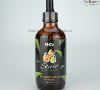 Stevia Sweetener drop, (Indonesian Vanilla), 120ml ENZO