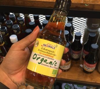 Naturally brewed organic jasmine rice vinegar, Naturals cf 200ml.