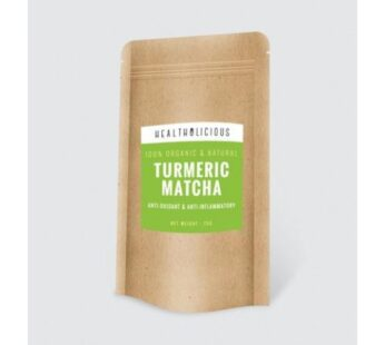 TEA : Organic Turmeric Matcha Tea 75g by Healtholicious