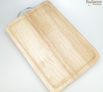 Wooden Cutting Board (Silver handle)