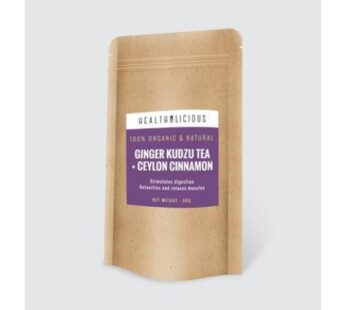 TEA : Organic ginger kudzu tea with Ceylon cinnamon 90g by Healtholicious